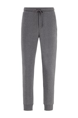 Slim-fit jogging trousers with layered logo, Grey