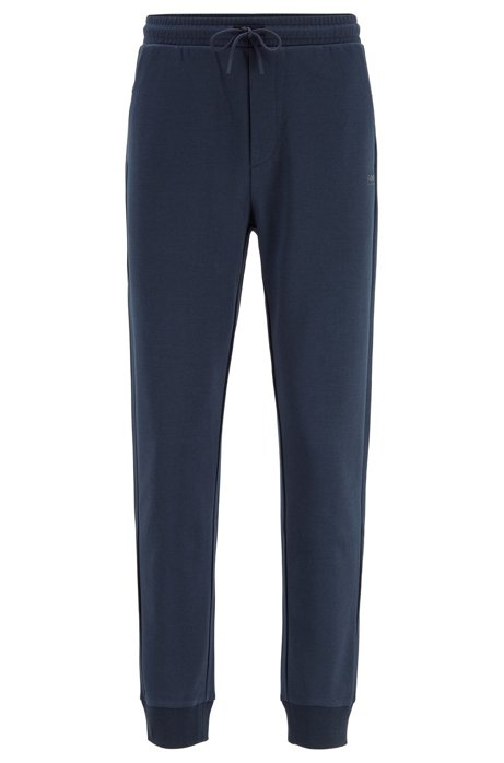 Pantalon de jogging Slim Fit à logo superposé, Bleu foncé