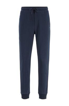 Pantalones de chándal slim fit con logo a capas, Azul oscuro