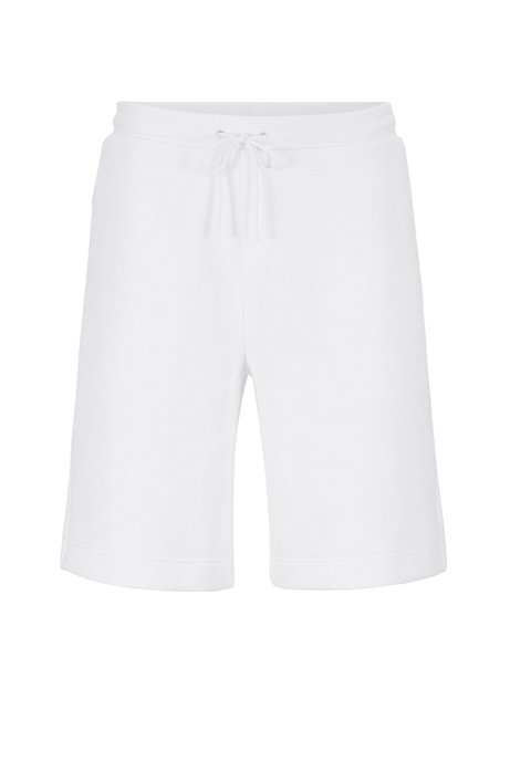 Shorts relaxed fit con logo grabado en el bolsillo, Blanco