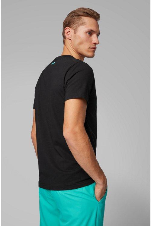 Hugo Boss - T-shirt à logo The Open exclusif en jersey de coton stretch - 4