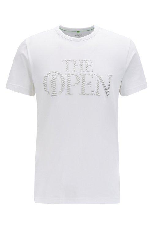 Hugo Boss - Camiseta con logo exclusivo The Open en punto de algodón elástico - 1