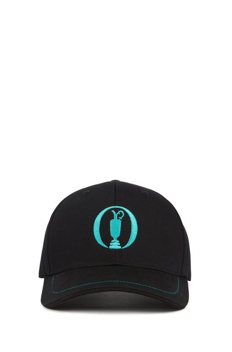 The Open Exclusive cap in cotton-blend twill, Black