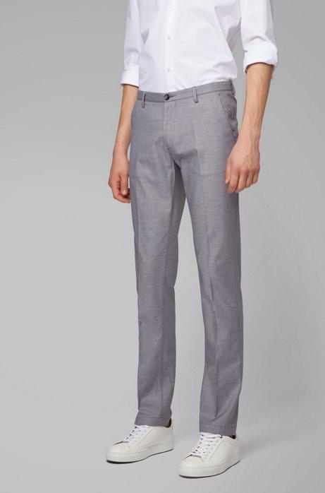 Slim-Fit Chino aus Stretch-Baumwolle mit dezentem Muster, Grau