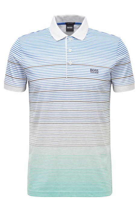 Regular-fit polo shirt in single-jersery cotton, Patterned
