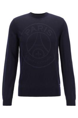 Maglione in lana in edizione limitata con il logo del Paris Saint-Germain, Blu scuro