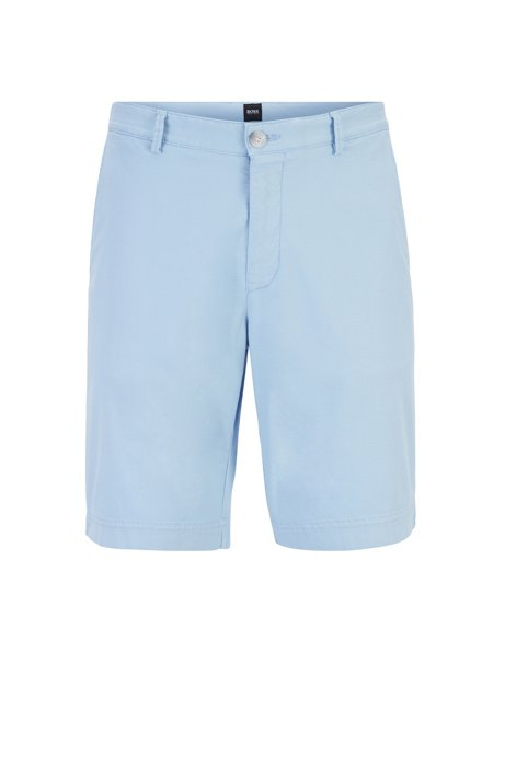 6d6328b78 BOSS - Lightweight shorts in Italian stretch cotton with overdyed finish