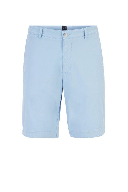 Hugo Boss - Shorts ligeros en algodón elástico italiano con tinción especial - 1