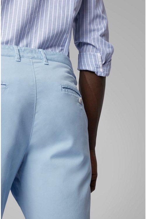 Hugo Boss - Shorts ligeros en algodón elástico italiano con tinción especial - 5