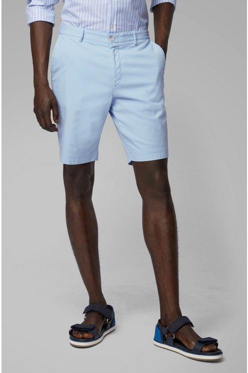 Hugo Boss - Shorts ligeros en algodón elástico italiano con tinción especial - 2