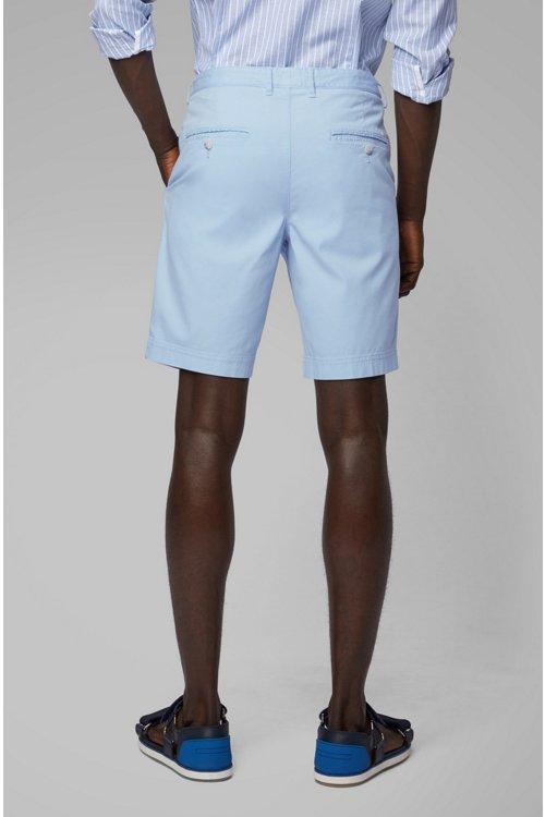 Hugo Boss - Shorts ligeros en algodón elástico italiano con tinción especial - 4