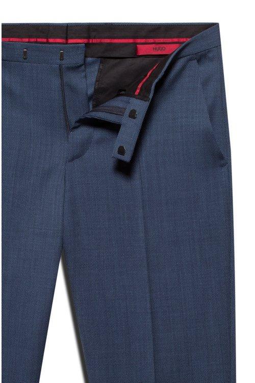 Hugo Boss - Pantalones regular fit en lana virgen de dos tonos con microestampado - 5