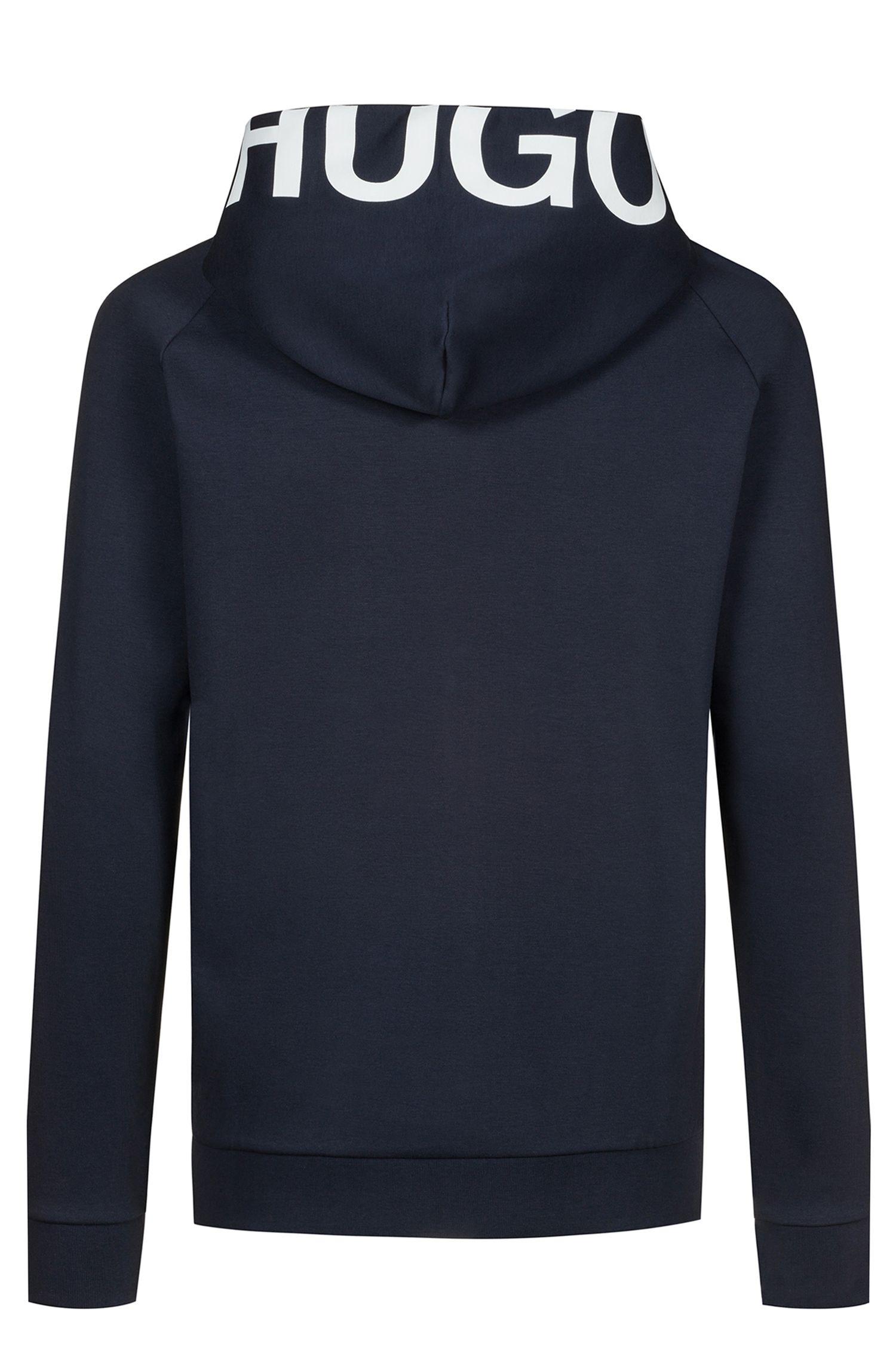 Hugo Boss - Zip-through cotton hoodie with cropped logo - 4