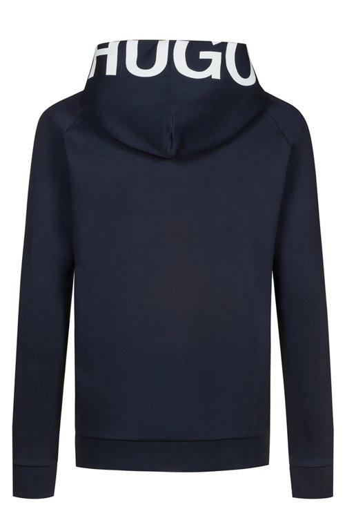Hugo Boss - Kapuzenjacke aus Baumwolle mit Reißverschluss und abgeschnittenem Logo - 4