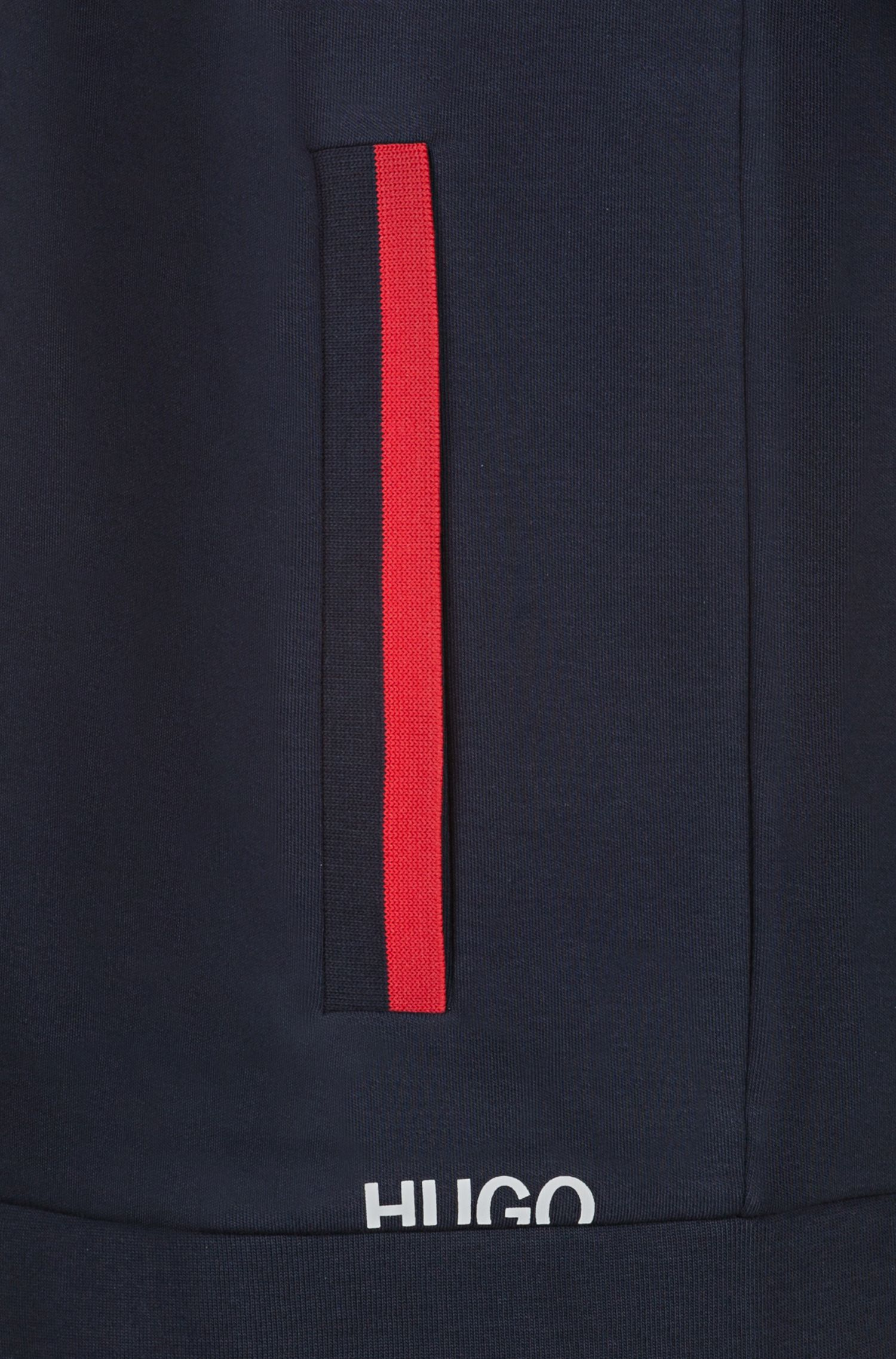 Hugo Boss - Zip-through cotton hoodie with cropped logo - 5