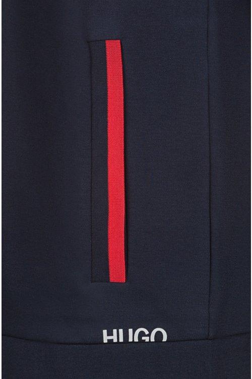 Hugo Boss - Kapuzenjacke aus Baumwolle mit Reißverschluss und abgeschnittenem Logo - 5