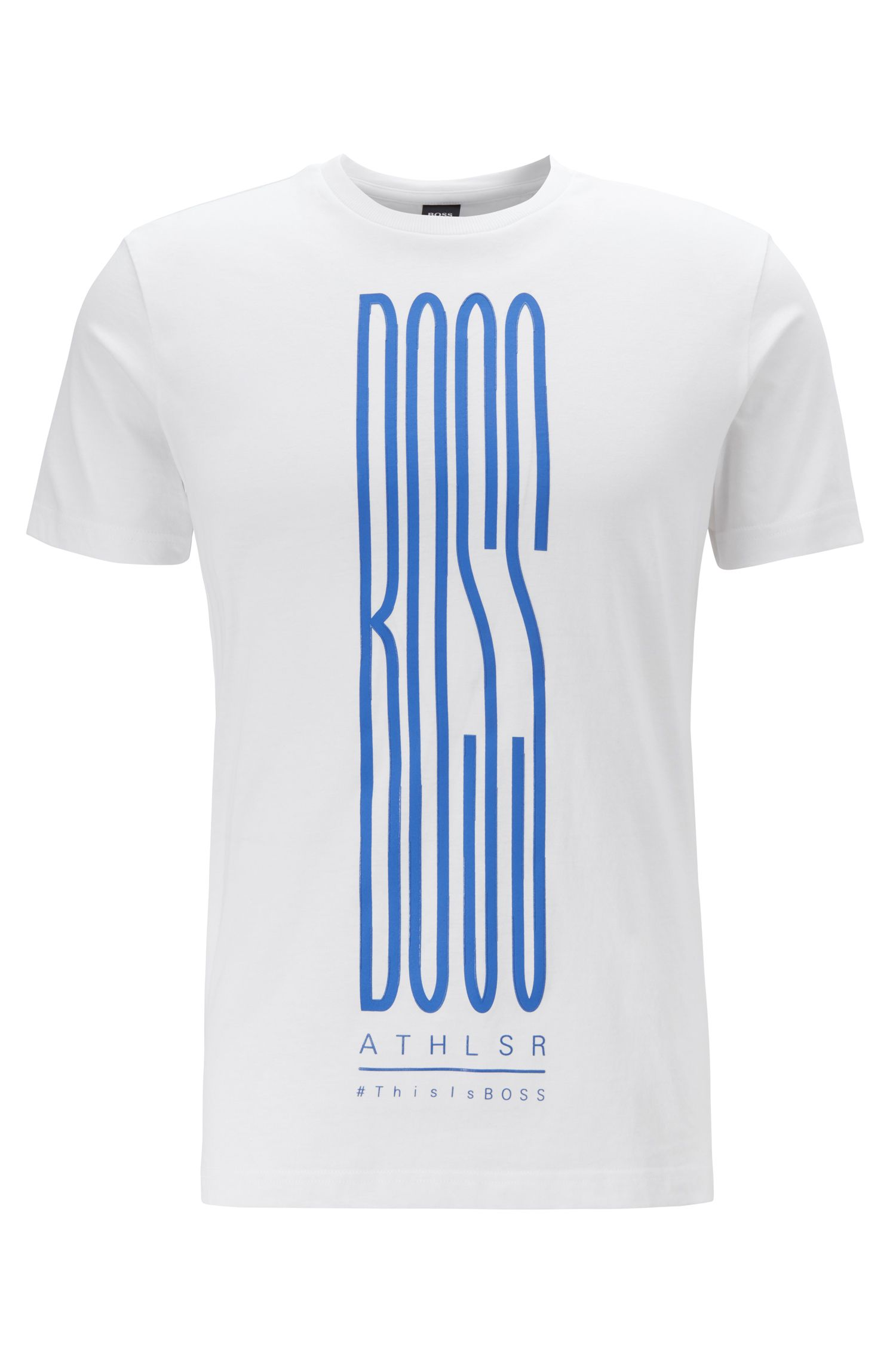 Logo-print T-shirt in an eco-friendly cotton blend, White