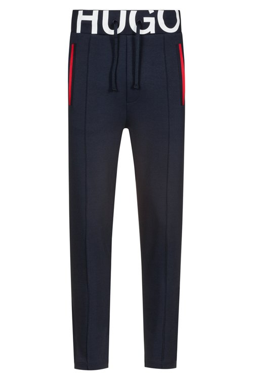 Hugo Boss - Slim-fit trousers in interlock cotton with logo waistband - 1