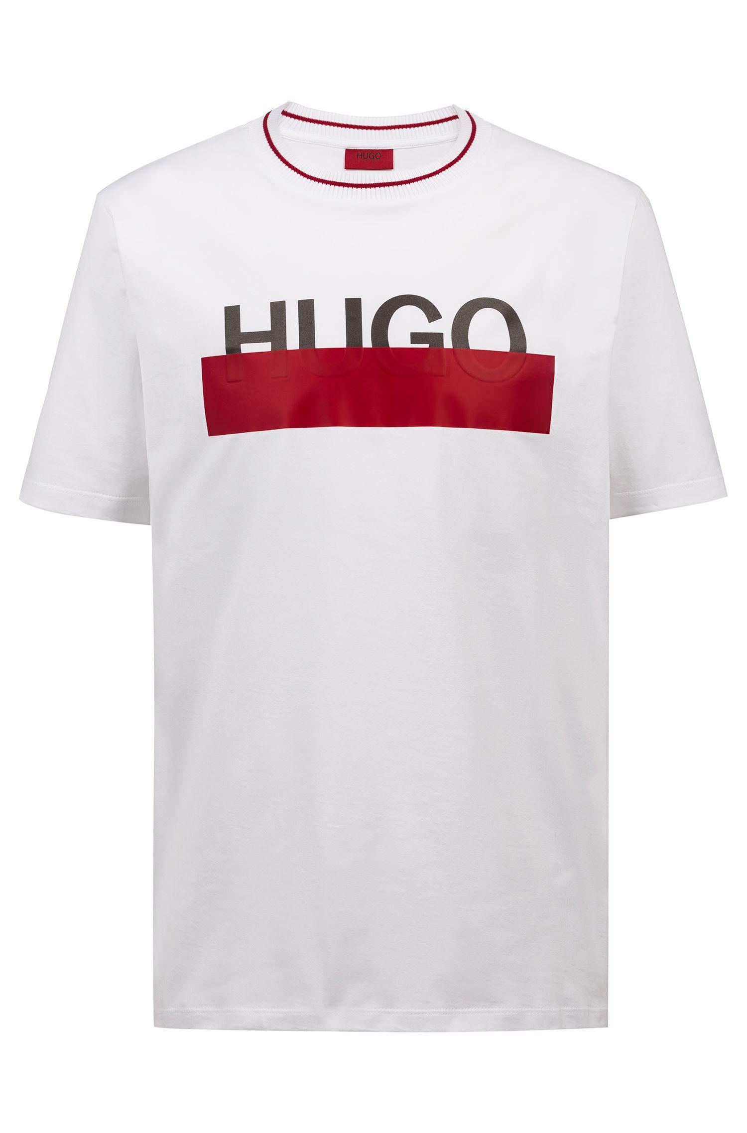Hugo Boss - T-Shirt aus Baumwolle mit teilweise verdecktem Logo - 1