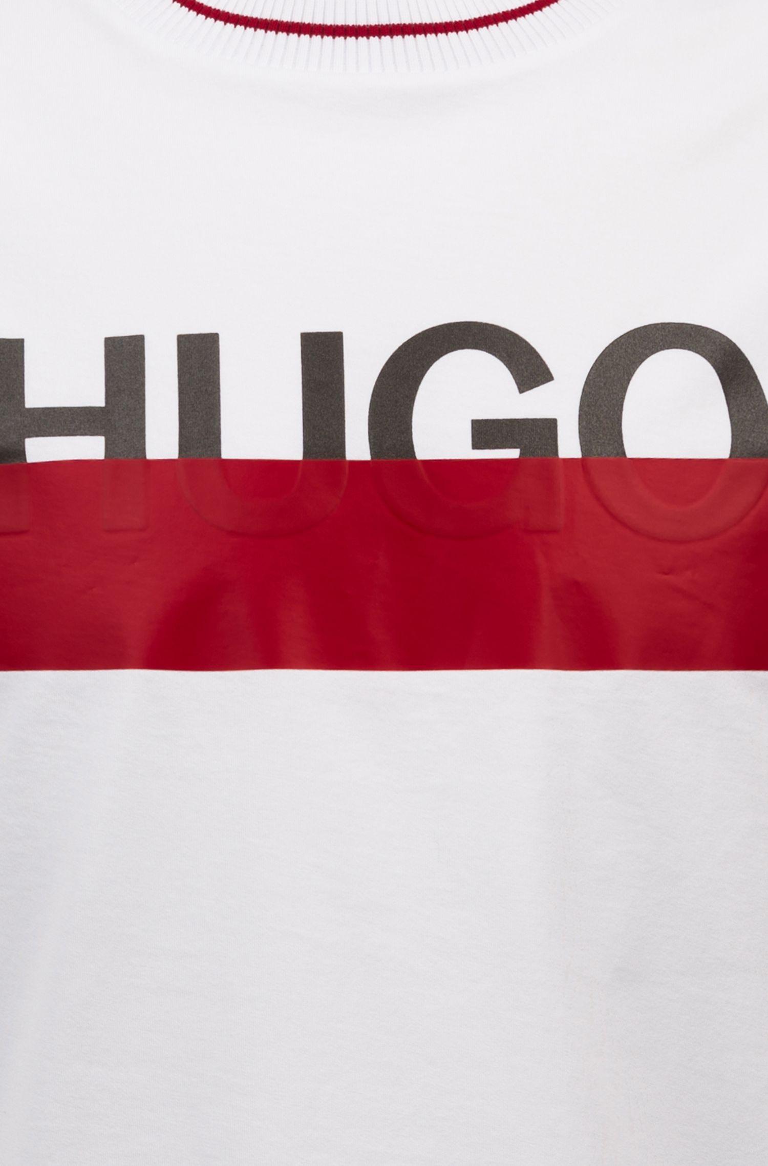 Hugo Boss - T-Shirt aus Baumwolle mit teilweise verdecktem Logo - 5