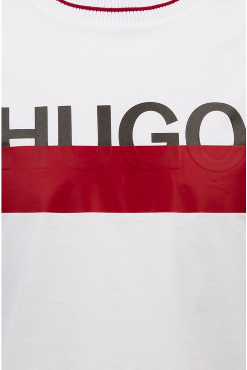 Hugo Boss - Cotton T-shirt with partially concealed logo - 5