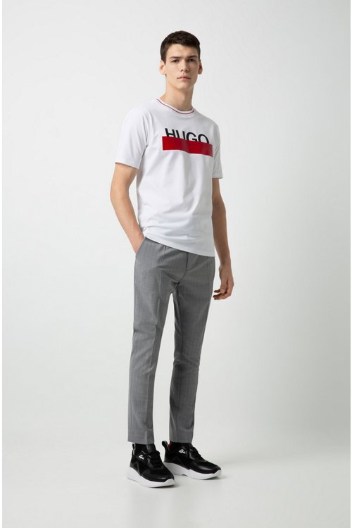 Hugo Boss - Cotton T-shirt with partially concealed logo - 3