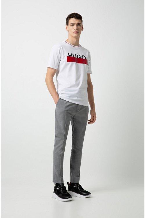 Hugo Boss - T-Shirt aus Baumwolle mit teilweise verdecktem Logo - 3