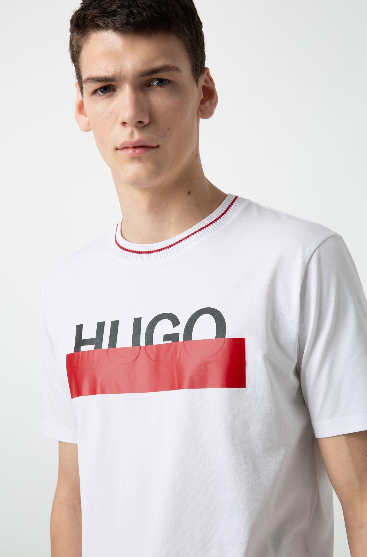 Hugo Boss - T-Shirt aus Baumwolle mit teilweise verdecktem Logo - 2