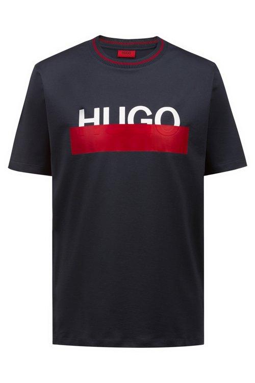 Hugo Boss - Camiseta de algodón con logo parcialmente ocultado - 1