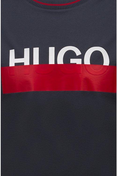 Hugo Boss - Camiseta de algodón con logo parcialmente ocultado - 5