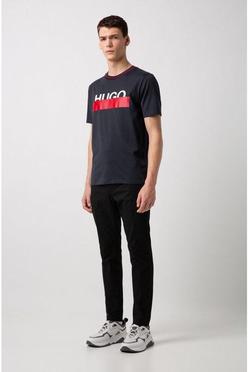 Hugo Boss - Camiseta de algodón con logo parcialmente ocultado - 2