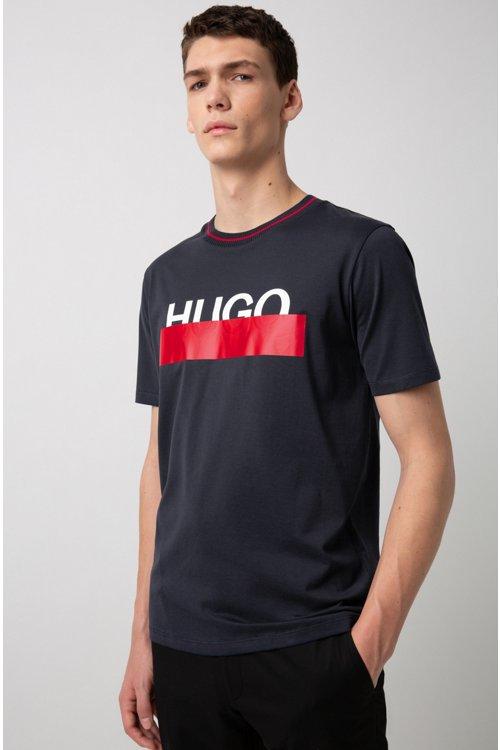 Hugo Boss - Camiseta de algodón con logo parcialmente ocultado - 3