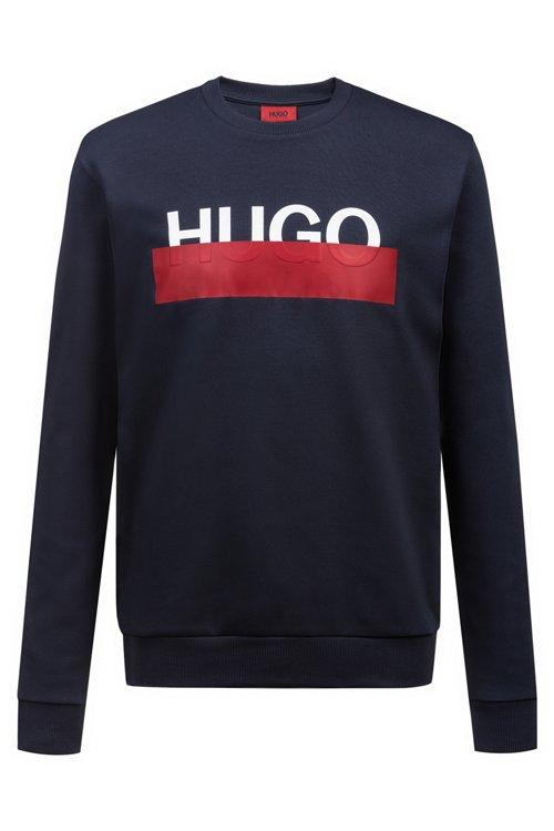 Hugo Boss - Sudadera de algodón interlock con logo parcialmente ocultado - 1