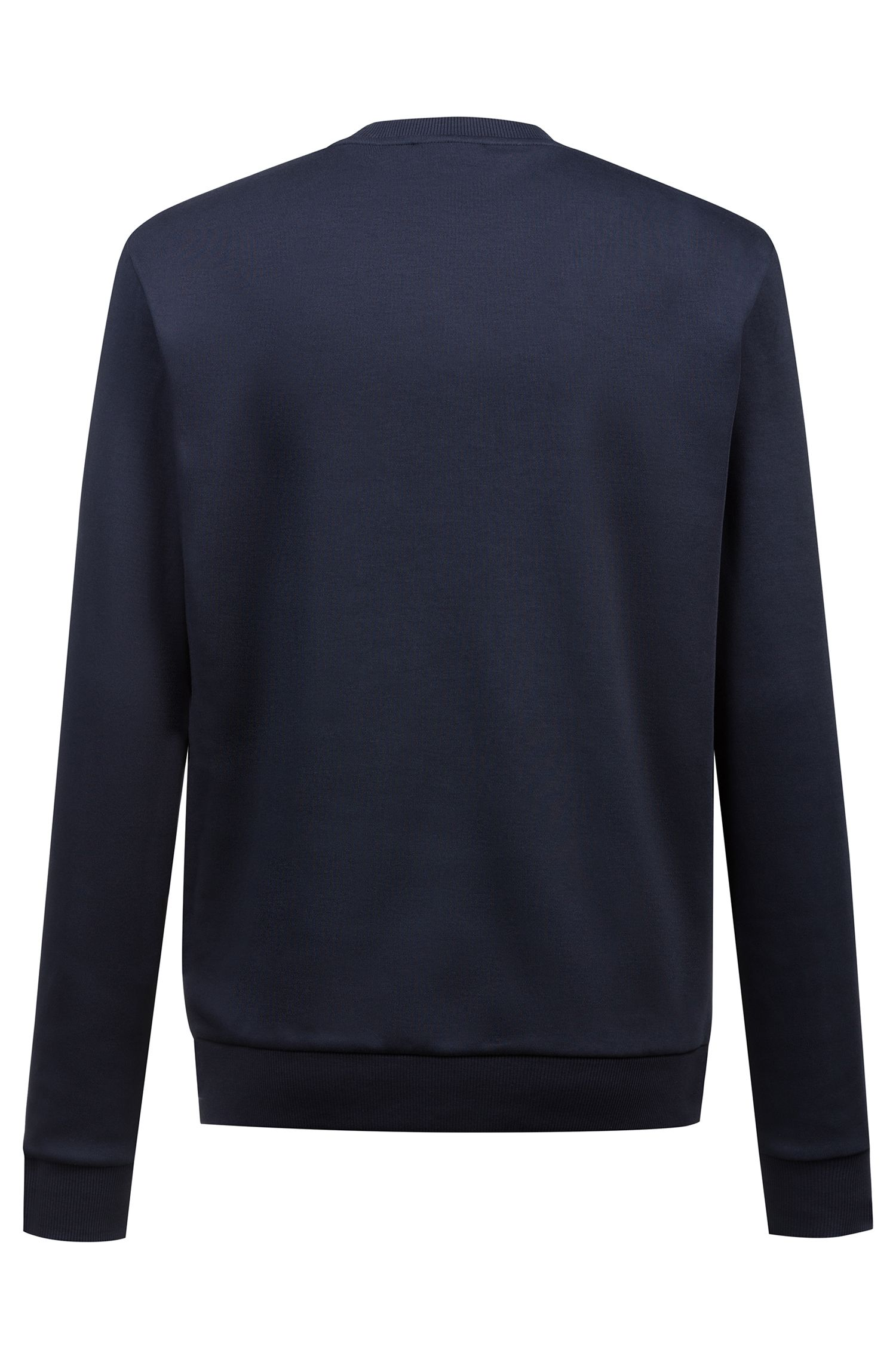Hugo Boss - Interlock-cotton sweatshirt with partially concealed logo - 4