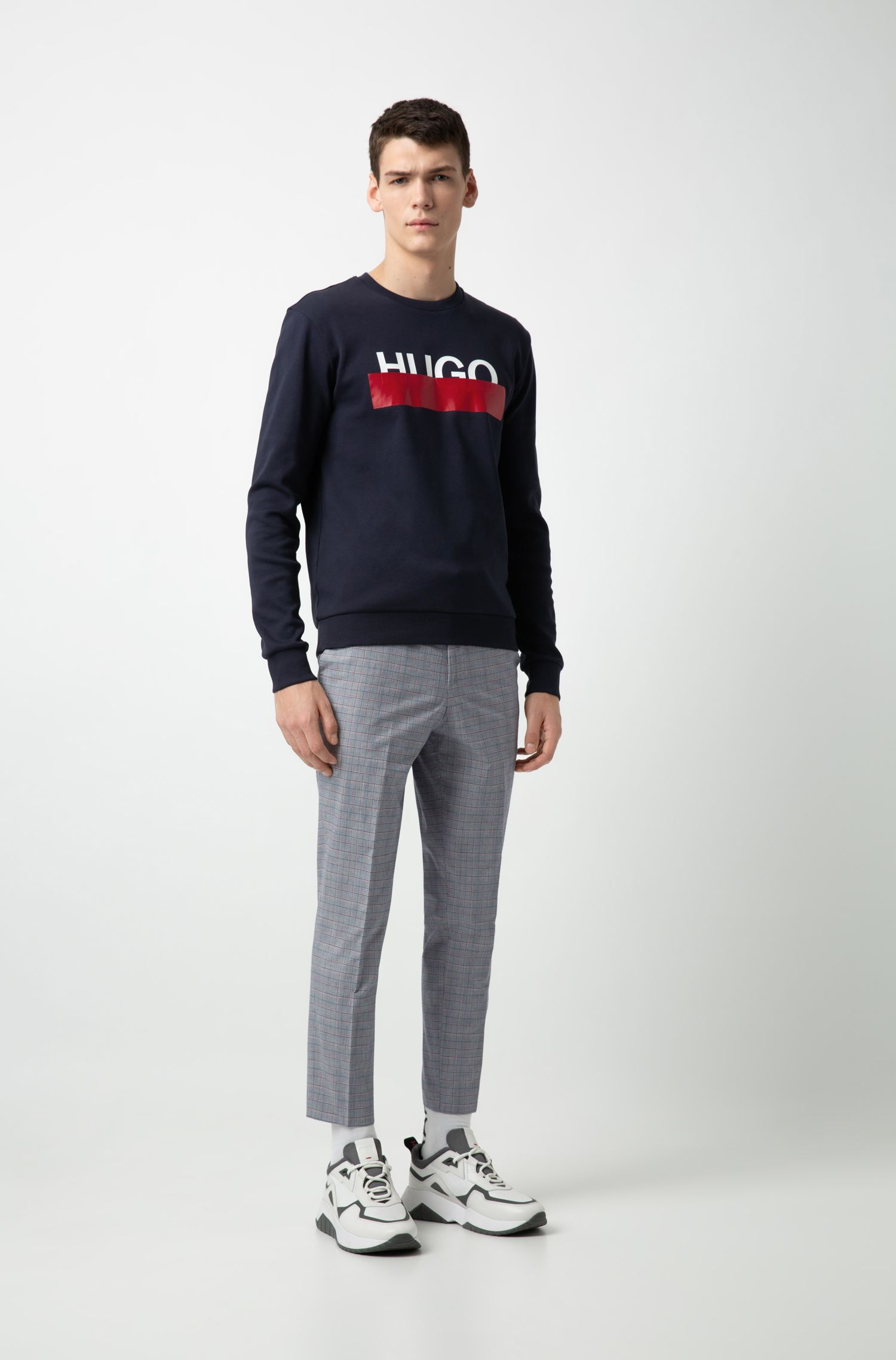 Hugo Boss - Interlock-cotton sweatshirt with partially concealed logo - 2