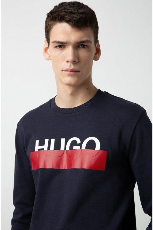 Hugo Boss - Sudadera de algodón interlock con logo parcialmente ocultado - 3