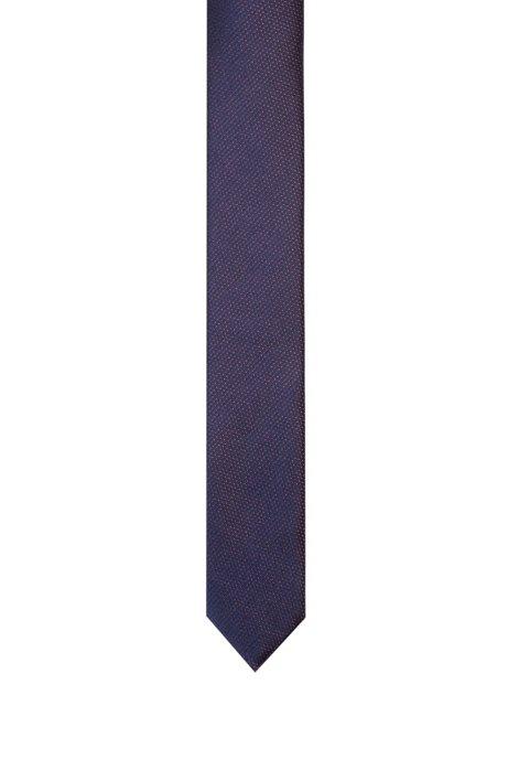 Cravate en jacquard de soie à micromotif, Fantaisie