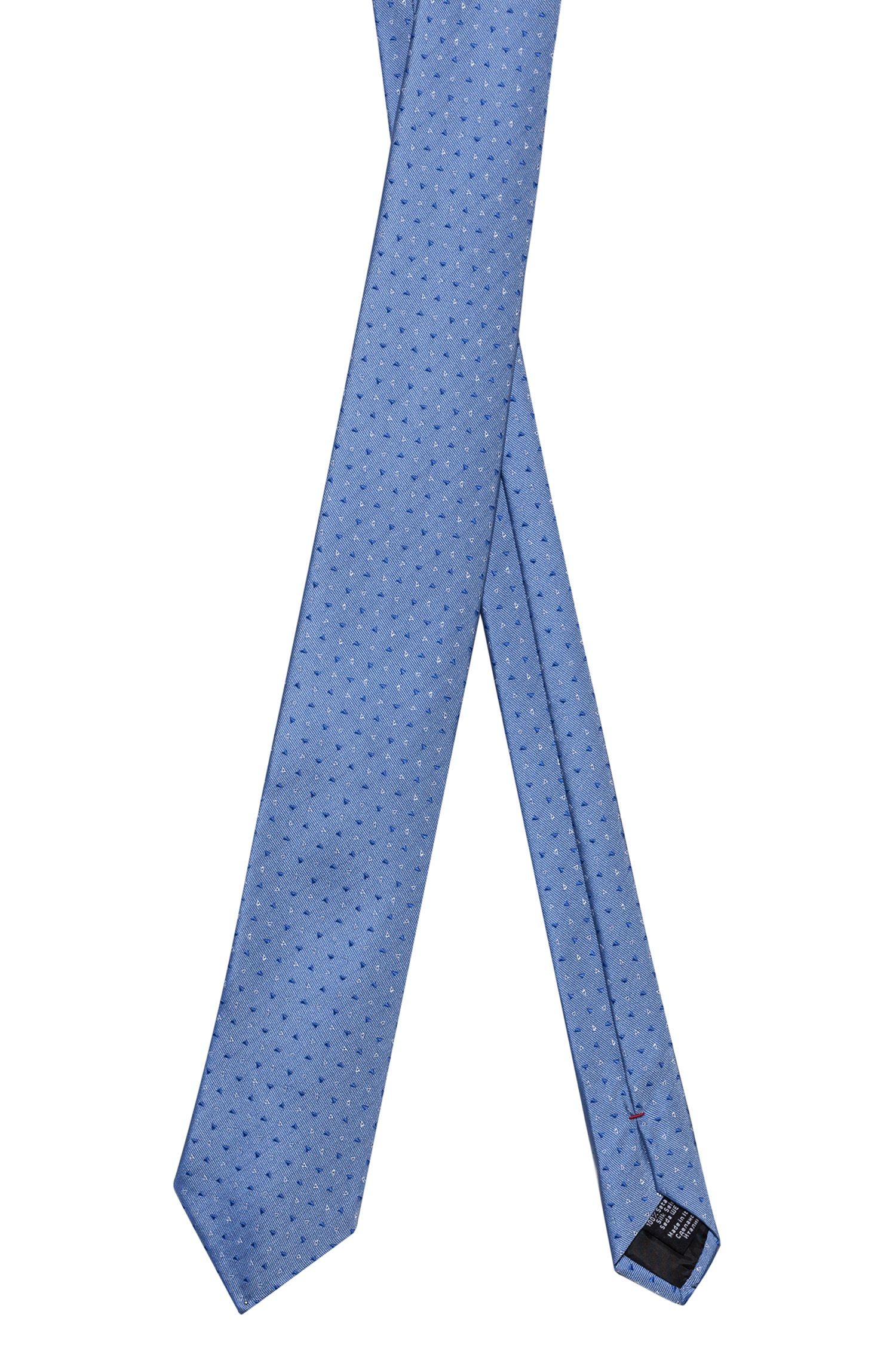 Silk-jacquard tie with triangle motif, Patterned