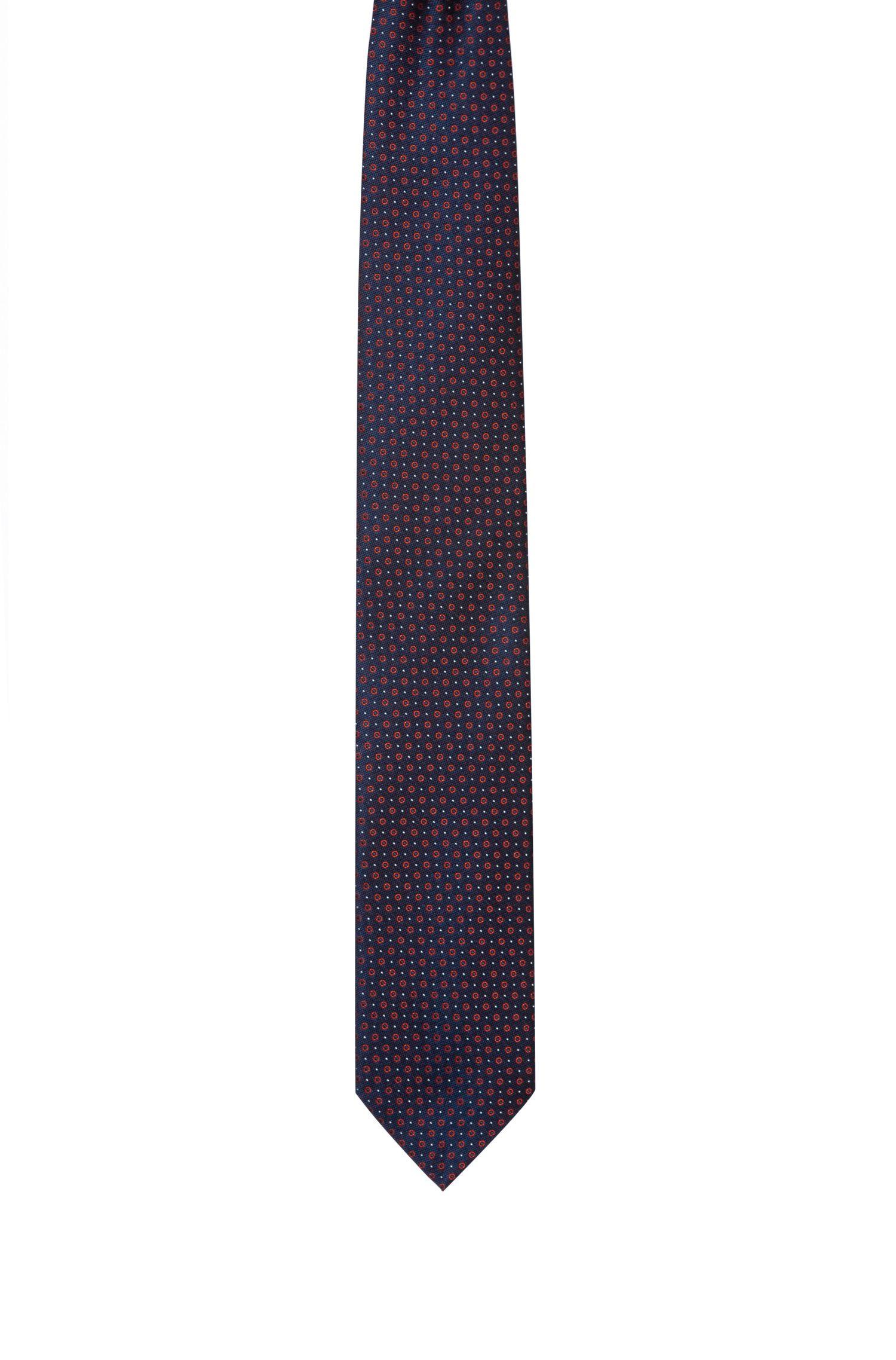 Krawatte aus Seiden-Jacquard mit filigranem Muster, Gemustert