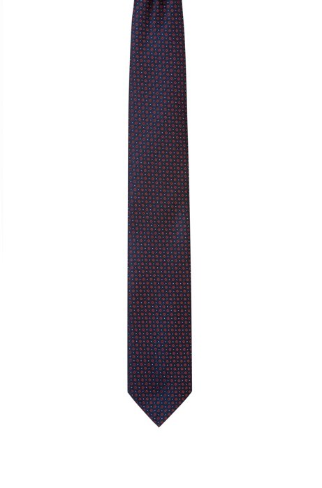 Silk-jacquard tie with micro pattern, Patterned