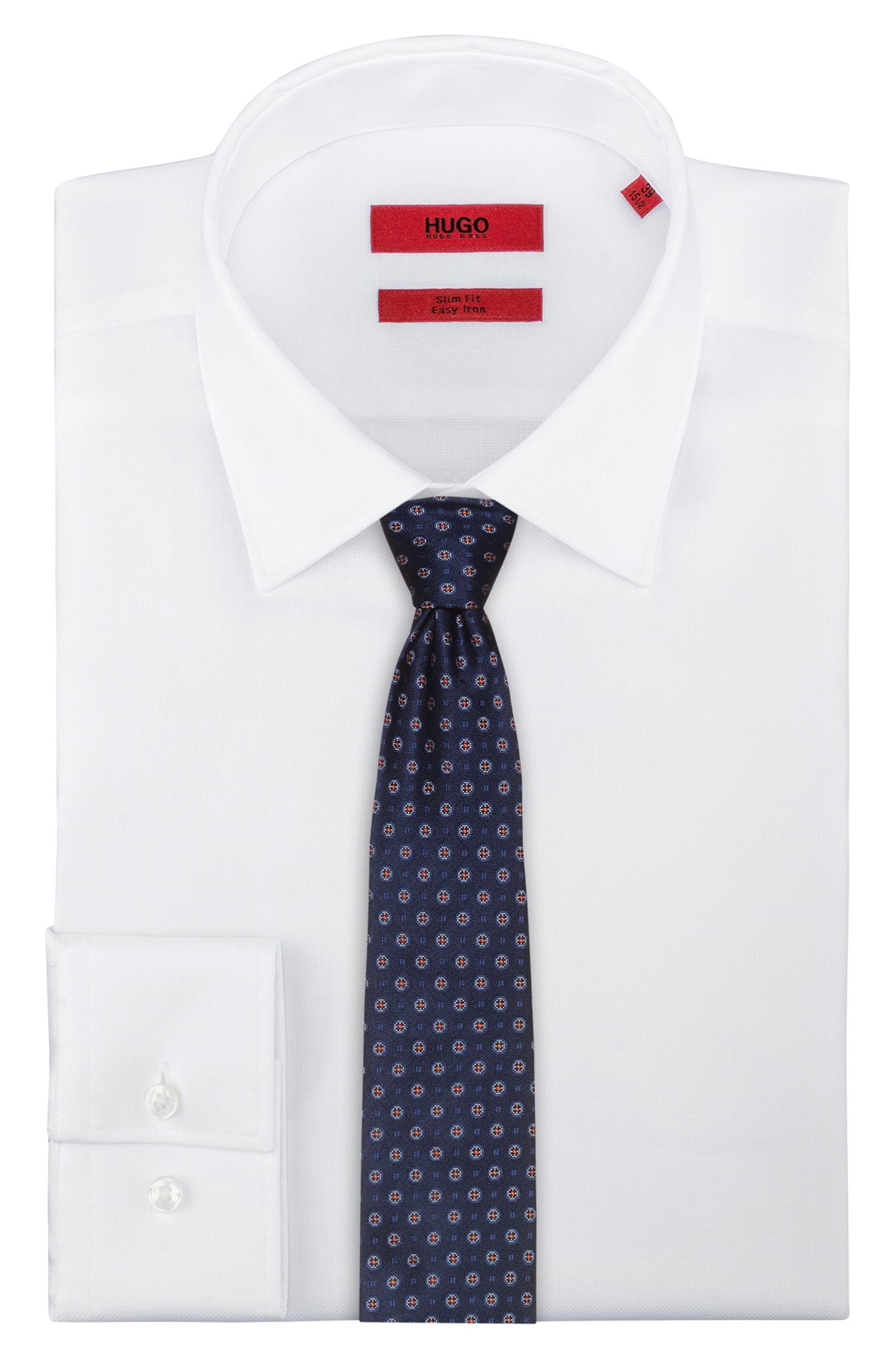 Krawatte aus Seide mit durchgehendem Jacquard-Muster, Gemustert