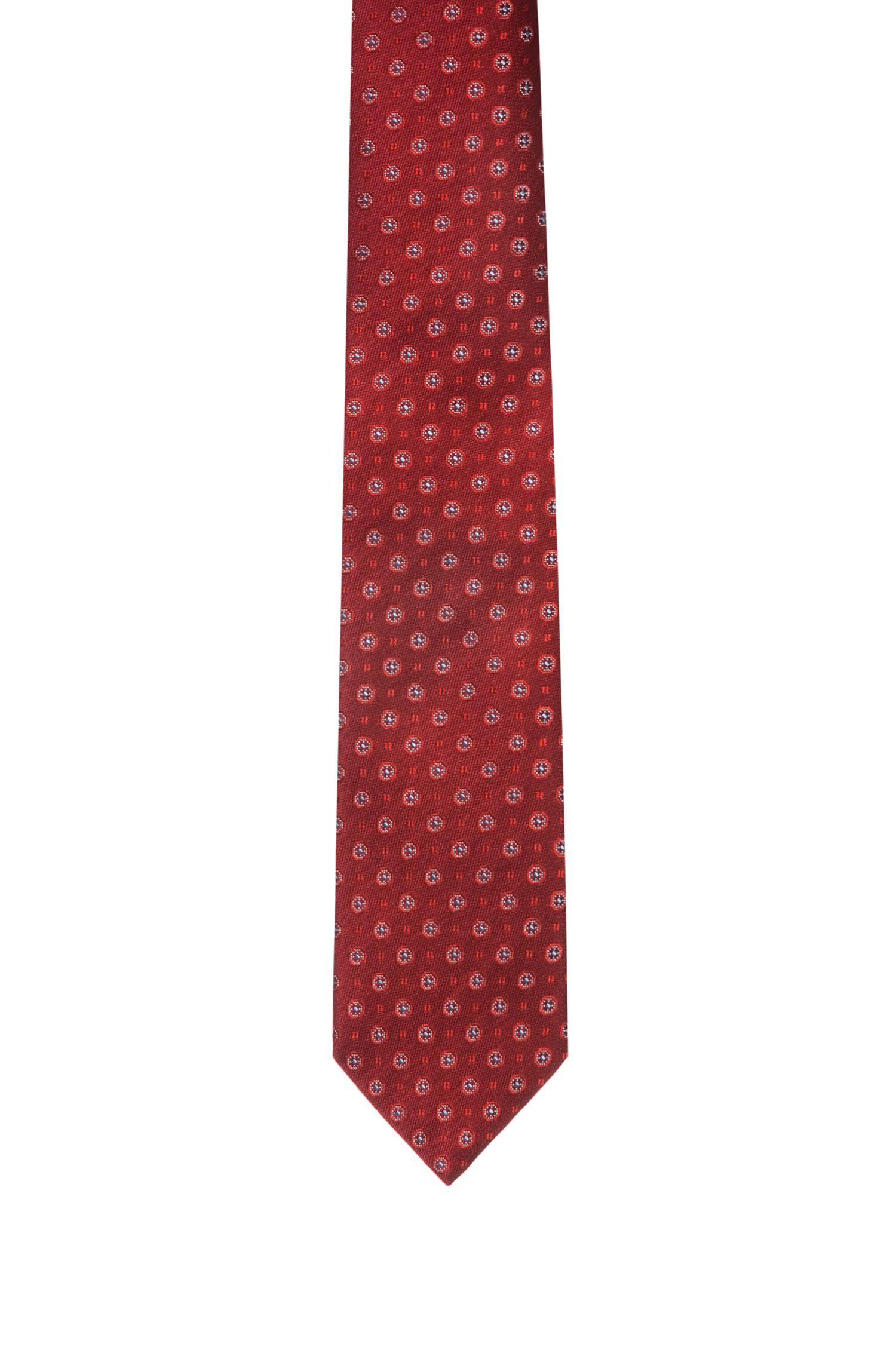 Cravate en soie à motif jacquard intégral, Fantaisie