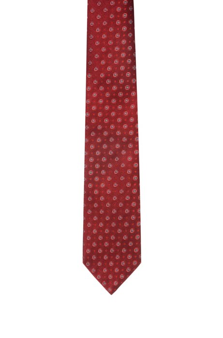 Silk tie with all-over jacquard pattern, Patterned