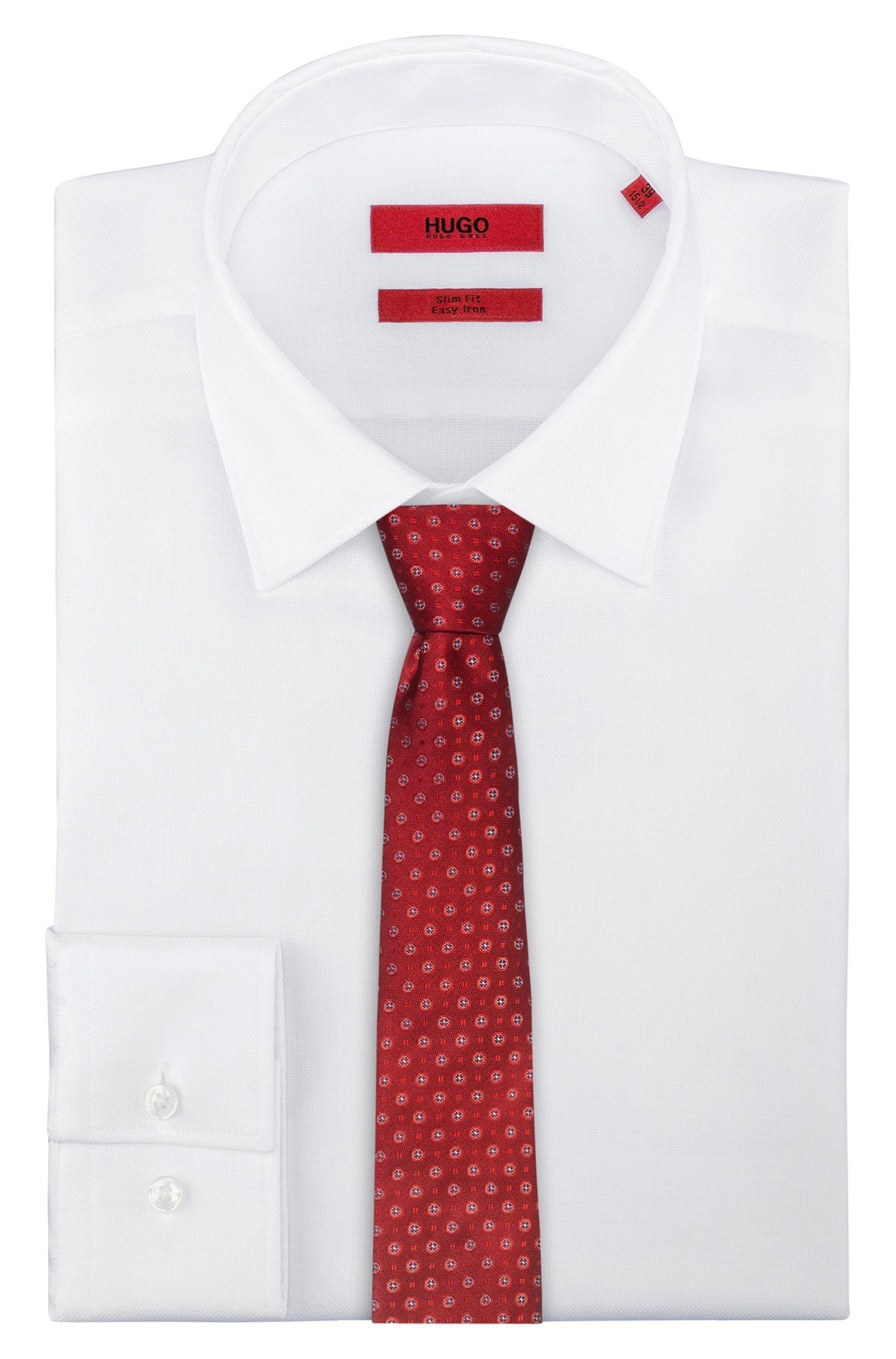 Cravatta in seta con motivo jacquard all-over, A disegni