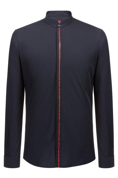 Hugo Boss - Extra Slim-Fit Hemd aus Baumwolle mit Streifen an der Knopfleiste - 1