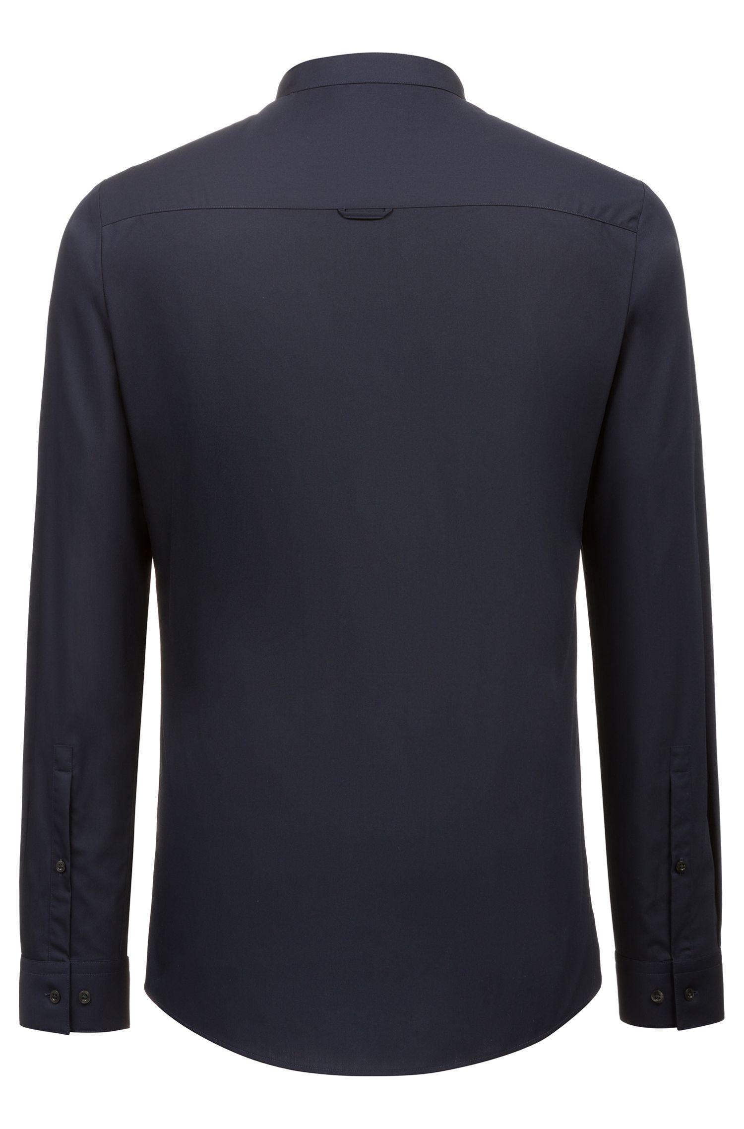 Hugo Boss - Extra Slim-Fit Hemd aus Baumwolle mit Streifen an der Knopfleiste - 4