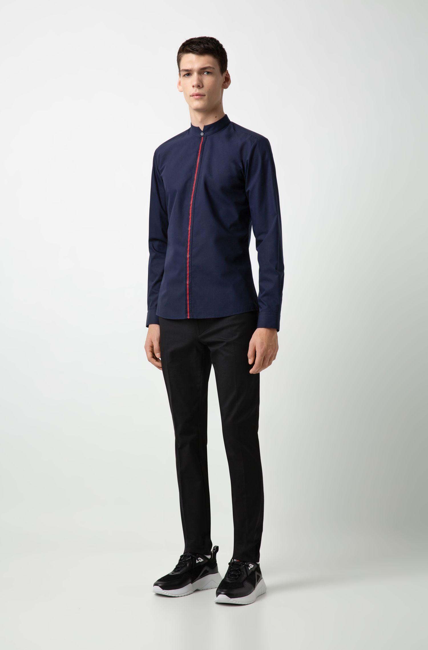 Hugo Boss - Extra Slim-Fit Hemd aus Baumwolle mit Streifen an der Knopfleiste - 2