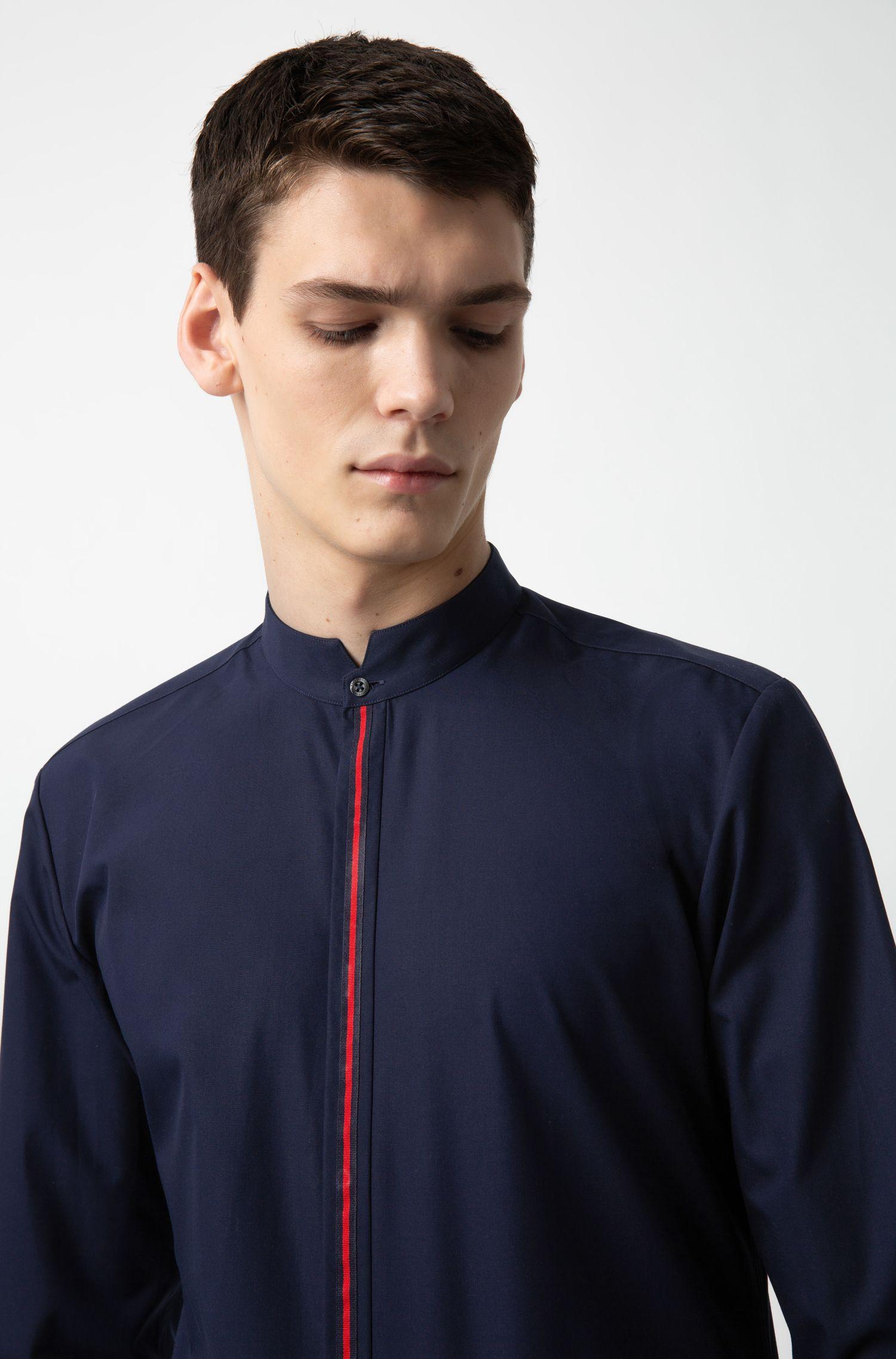 Hugo Boss - Extra Slim-Fit Hemd aus Baumwolle mit Streifen an der Knopfleiste - 3
