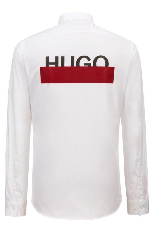 Hugo Boss - Extra Slim-Fit Hemd aus Baumwolle mit teilweise verdeckten Logos - 4