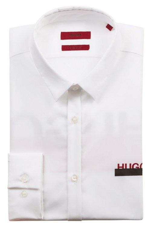Hugo Boss - Extra Slim-Fit Hemd aus Baumwolle mit teilweise verdeckten Logos - 5